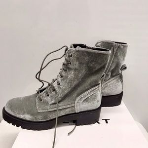 REPORT FOOTWEAR RUBIN BLACK COMBAT BOOTS
